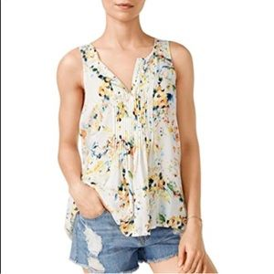 Sanctuary Palma shell floral sleeveless top